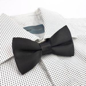 66272176e1a4 Men's H&M Pre-tied Satin Neck Bow Tie Black Men's